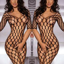 Women Fishnet Babydoll Sexy Crotchless Bodysuit Lingerie Underwear Bodystocking