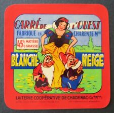 Etiquette fromage CARRE DE L OUEST  BLANCHE NEIGE   french cheese label 26