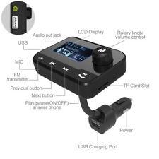 Bluetooth Car FM Transmitter Radio Adapter USB Charger Mp3 Player w 2.0 inch LED