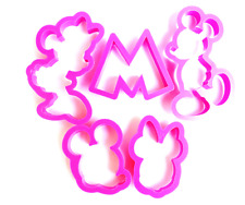 5 PC Mickey Mouse and Minnie Mouse Disney Cookie Cutters Set - Quality Baking To