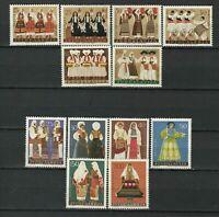 Yugoslavia 1960 ☀  1961 & 1964 Yugoslav Costumes - Complete Sets ☀ MNH**
