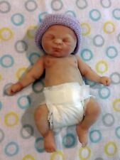 "Painted Micro Preemie Full Body Silicone Baby Boy Doll ""Gabriel"""