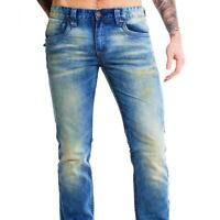 Shine Original Herren denim Jeans Hose 2-07030ATO atomic blue blau vintage look
