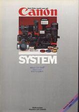 Canon System Produktkatalog von 1983 Reflexsystem Objektive und Zubehör
