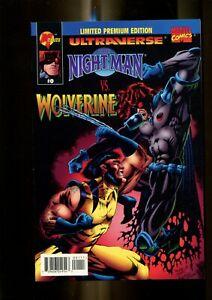 ULTRAVERSE THE NIGHT MAN 0 (9.8) VS. WOLVERINE MALIBU (b046)