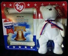 Ty Beanie Babies American Trio Libearty Bear USA Flag patriot Liberty America