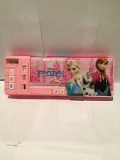 Disney Frozen Pink with 5 Popups Cartoon B-day/X-mas Gift Stationery Pencil Case