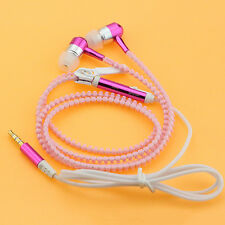 Glow Luminous Light Headphone Earphone Headset Zipper 3.5mm In-Ear Earbud Cool