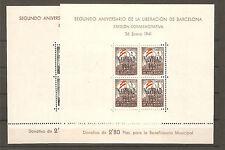 1945. AY DE BARCELONA HOJITAS  EDIFIL Nº 31/32 - NUEVAS**