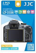 NEW JJC LCP-D3300 LCD Guard Film Camera Screen Protector for NIKON D3300 D3200