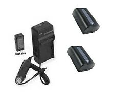 TWO 2X Batteries + Charger for Sony HDR-CX230E HDR-CX230B HDR-CX280 HDR-CX280E