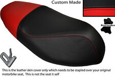 RED & BLACK CUSTOM FITS APRILIA SPORTCITY 50 2T 08-12 DUAL LEATHER SEAT COVER