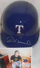 Derek Holland Texas Rangers Autographed Signed Mini Helmet w/picture A