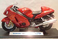 1:18 Suzuki Hayabusa GSX1300R haybail En Rojo Excelente Modelo! detalle excelente