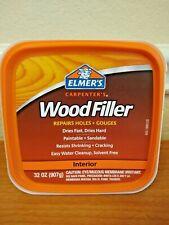 Elmer's Carpenter's Wood Filler Repairs Holes Gouges Interior 32oz NEW