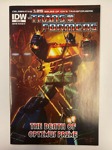 IDW: TRANSFORMERS: THE DEATH OF OPTIMUS PRIME: NM CONDITION: RI-A COVER