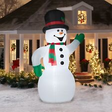 10 Ft Inflatables Snowman Christmas Holiday Yard Decoration Outdoor Airblown