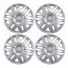 997 Universal Wheel Cover ABS Wheel Skins Set Hub Caps Silver 16'' -Set of 4