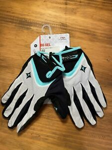 Specialized Women's Body Geometry Gel LongFinger Glove Touch ScreenWhiteTeal XL