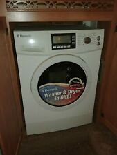 White Dometic washer and dryer combo ventless model