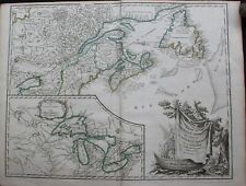 PART OF NORTHERN AMERICA (NEW FRANCE OR CANADA) - 1755 - BY ROBERT DE VAUGONDY