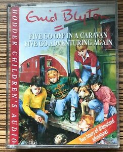 AUDIO BOOK Enid Blyton THE FAMOUS FIVE Five Go Off In A Caravan etc on 2 x cass