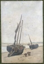 """JACOB MARIS - Original Oil Painting """"Unloading The Catch At Tide Out"""" Signed"""