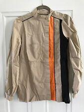 Marni women's beige blouse with orange and black stripe size 38