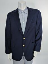 42R CHAPS Ralph Lauren Navy Blue Wool Blazer Gold Buttons Made in USA Rod Otto