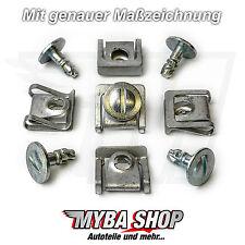 5x Kit protección del motor antiempotramiento Metal Clips AUDI VW PASSAT SKODA