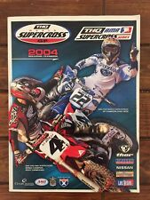 RACE PROGRAM YAMAHA VINTAGE MOTOCROSS SUPERCROSS MX DIRTBIKE JAMES STEWERT 2004