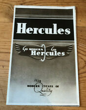 Original Hercules Cycles Fold-Out Catalogue 1938, Excellent