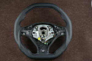 BMW x5 e70 2007-2012 tuning steering wheel flat bottom thick custom M stitching