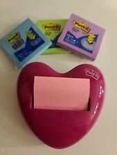 New Listingpost It Pop Up Notes Dispenser Pink Heart Shaped Amp Includes 3 Pads Of Post Its