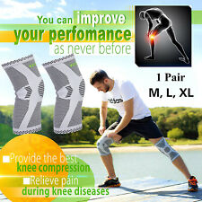 Bamboo Fiber Sports Knee Support Breathable Compression Knee Brace Protection US