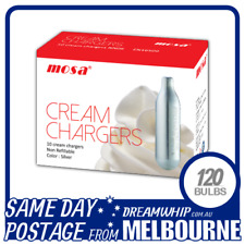 SAME DAY POSTAGE MOSA CREAM BULBS 10 PACK X 12 (120 CHARGERS) WHIPPED