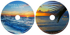 NATURAL SOUNDS SEA WAVES VOL.1&2:FOR RELAXATION,MEDITATION ,STRESS,SLEEP 2 XCD's
