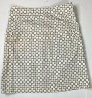 J.McLaughlin Skirt Size 2 Retro Print Pencil Cotton Spandex