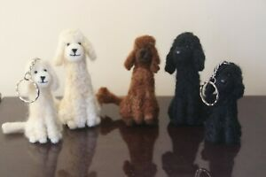 Needle Felted Poodles, 3 different colours. Handmade items. Free UK P+P
