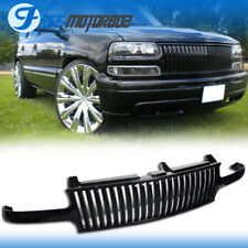 For 99-02 Chevy Silverado 00-06 Tahoe Suburan Black Front Hood Grill Grille ABS