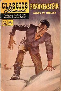 Classics Illustrated #26 - Frankenstein - Good - HRN 167!