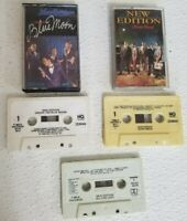 (3) NEW EDITION Cassette Tapes Under the Blue Moon, Heart Break, All For Love