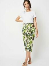 George Peach Tropical Print Wrap Skirt & Tapered Trousers Size UK22/EUR50