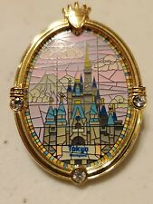 New listing Wdw Disney Pin Cinderella Castle Window Tokyo Castle Stained Glass Gems