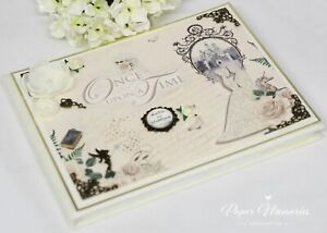 Vintage Boxed & Personalised Once Upon A Time Fairytale Wedding Guest Book