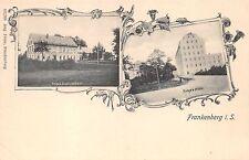 AK Frankenberg i. Sa. Nerge`s Etablissement, Bunge`s Mühle Postkarte vor 1945