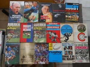 Lot de 17 livres différents sur le Rugby