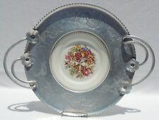 Antique/Vintage Farberware Aluminum Tray & Limoges Triumph Porcelain Plate 4848