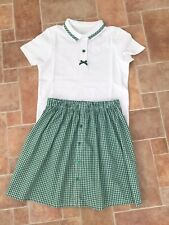 School Skirt Handmade And Matching Tshirt 7-8 Yrs