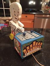Rare Casper The Friendly Ghost Xylophone Wooden Pull Toy 1960's